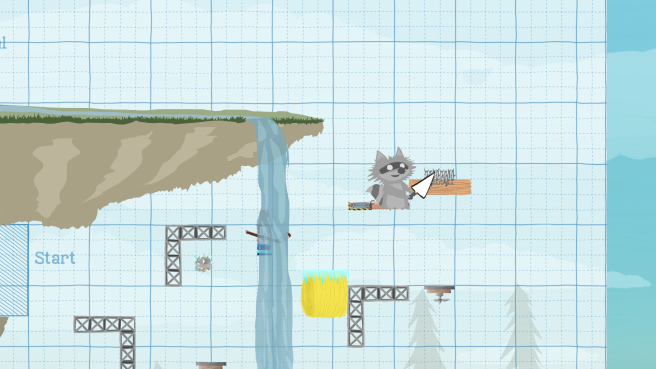 Ultimate Chicken Horse local co-op gameplay